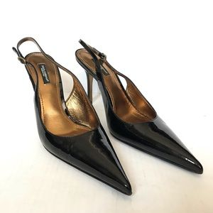 Dolce and Gabbana Black Vero Cuoio Heels
